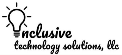 Logo for Inclusive Technology Solutions LLC with a lightbulb replacing the I in Inclusive